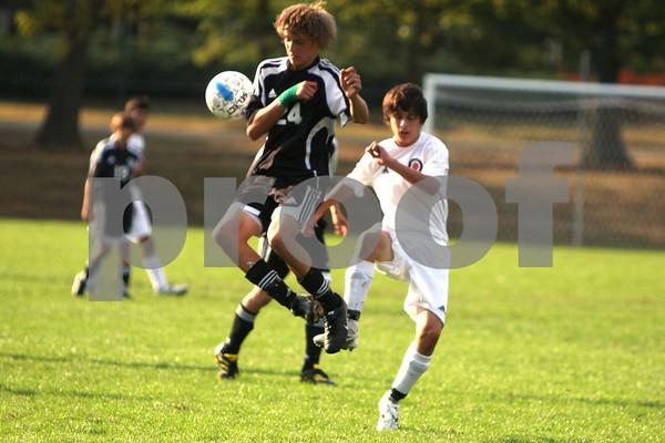 JV boys soccer at Indian Hill 9/30/10