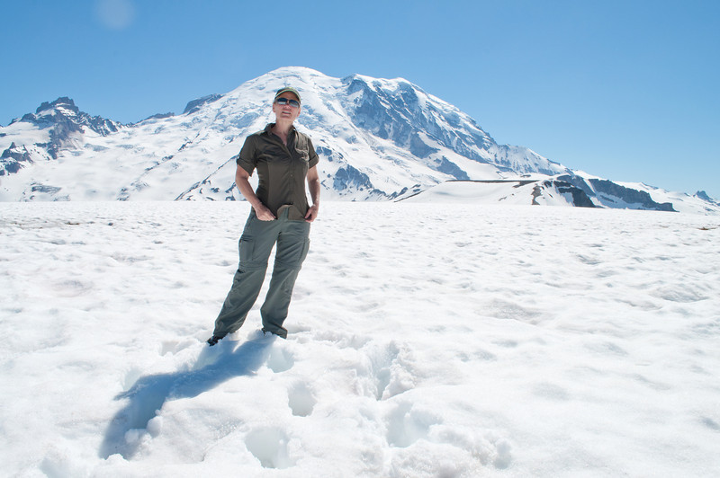 Mt. Rainier in the background.