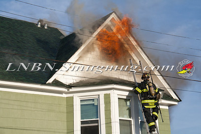 Lindenhurst F.D. Working House Fire 2 East Hoffman Ave. 11-14-13