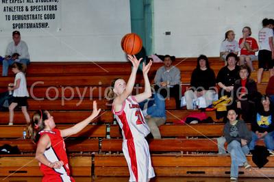 Girls Basketball, LaMoille vs Henry, Jan. 26, 2009. Senior Night