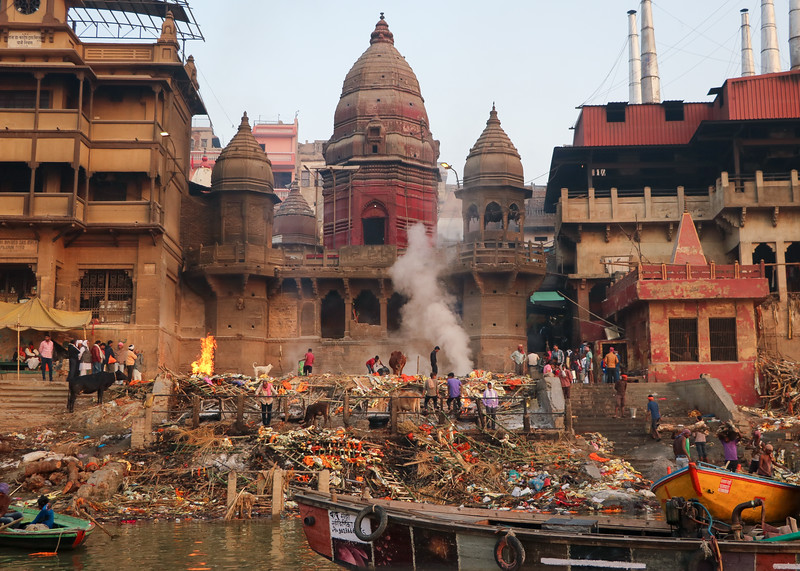 The Burning Ghat, where the cremations take place.