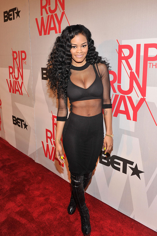 . Teyana Taylor attends BET\'s Rip The Runway 2013:Red Carpet at Hammerstein Ballroom on February 27, 2013 in New York City.  (Photo by Stephen Lovekin/Getty Images for BET\'s Rip The Runway)