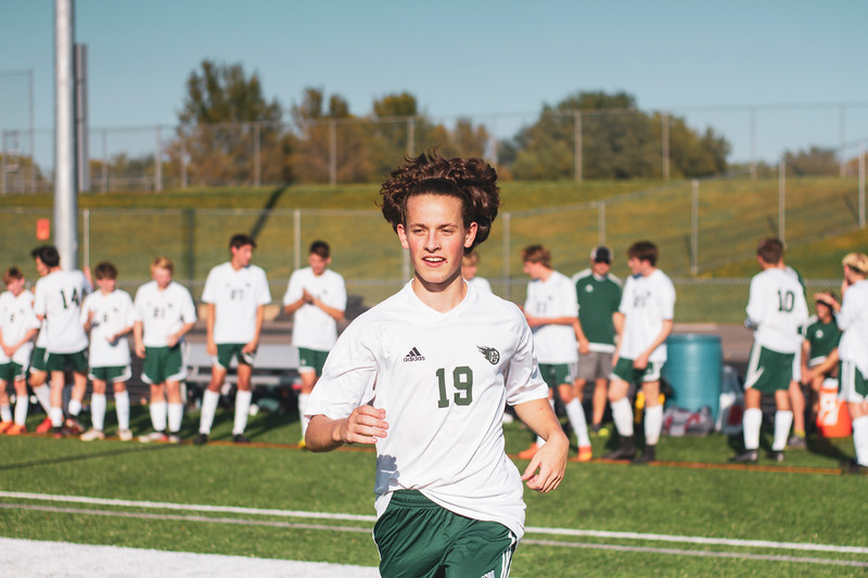 Holy Family Varsity Soccer vs. Delano, 9/19/19: Anthony Olson '21 (19)
