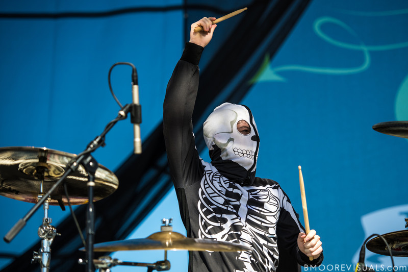 Josh Dun of Twenty One Pilots performs on December 1, 2012 during 97X Next Big Thing at Vinoy Park in St. Petersburg, Florida