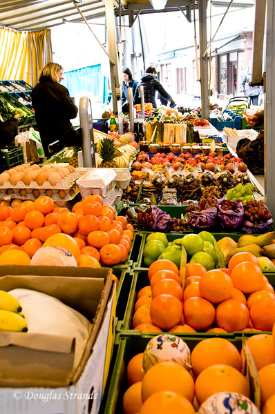 Salzburg outdoor market, with fruits and veggies