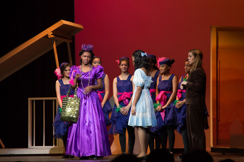 """Addaperle and the Munchkins with Dorothy & Toto -- """"The Wiz"""", Montgomery Blair High School spring musical, March 26, 2017"""