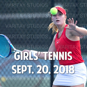 Prairie Girls Tennis 9-20-2018