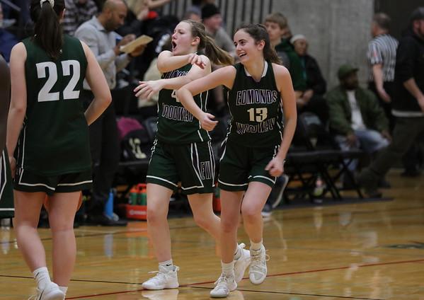 2019 3A Girls District 1 playoffs Edmonds-Woodway 52 - Marysville-Getchell 39