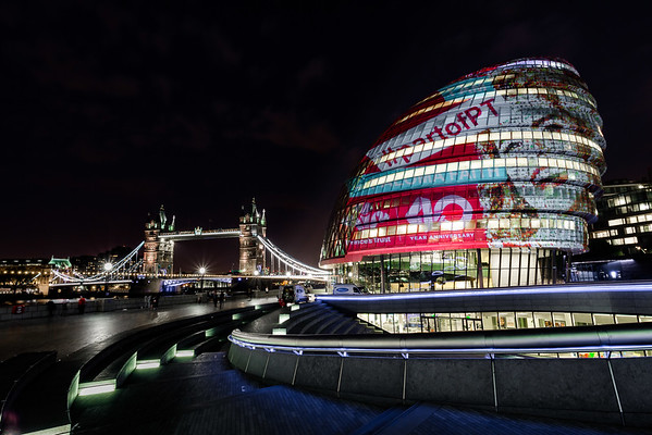 The Prince's Trust:  40th Anniversary Projection at City Hall