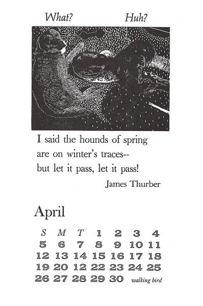 April, 1998, walking bird