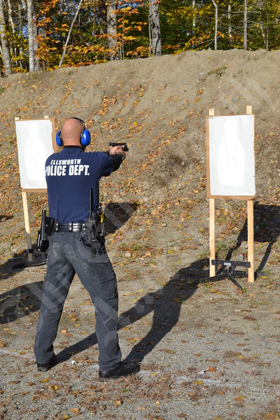 Ellsworth Police Department Practices Shooting Skills