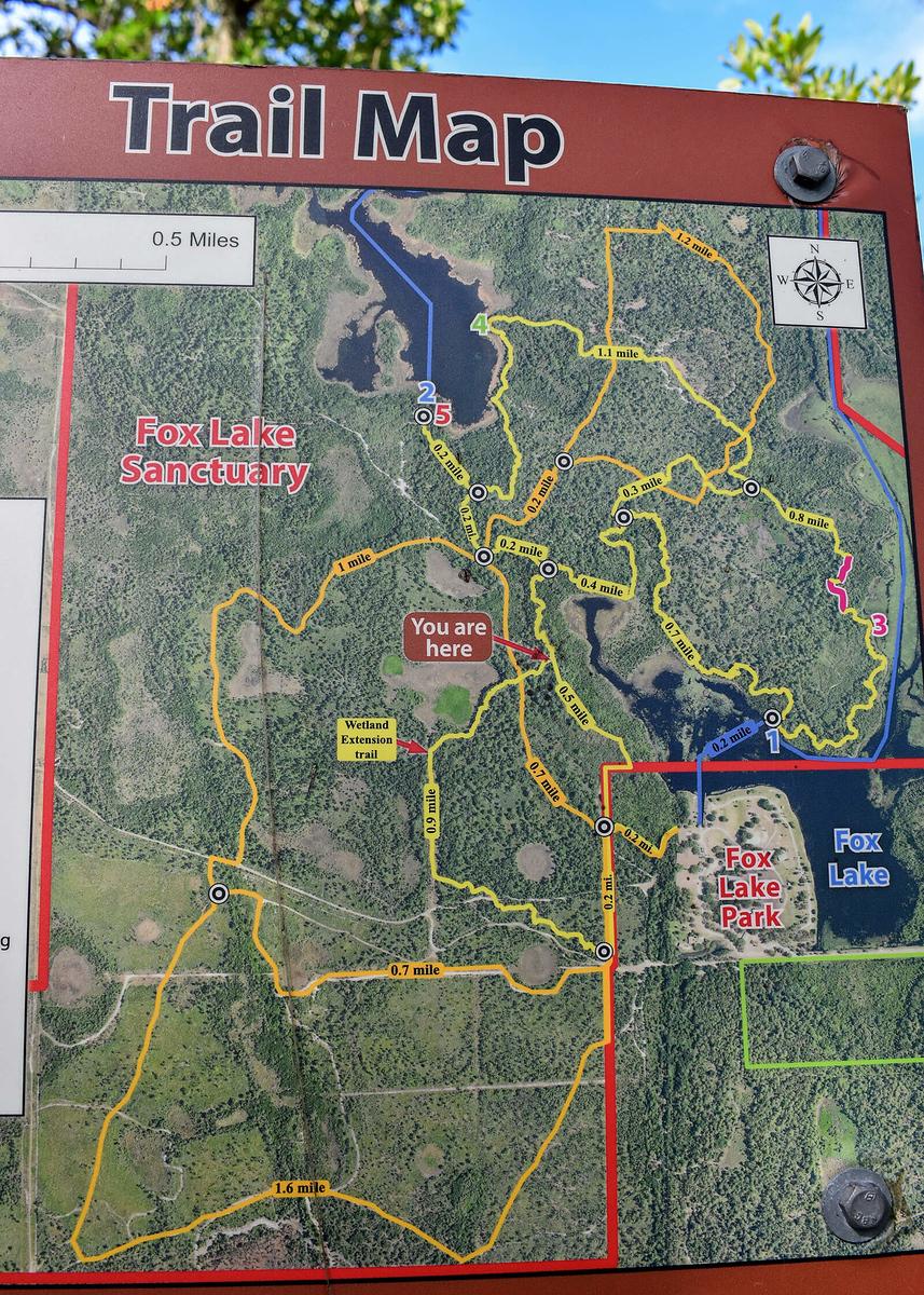Fox Lake Sanctuary Biking Trail Map
