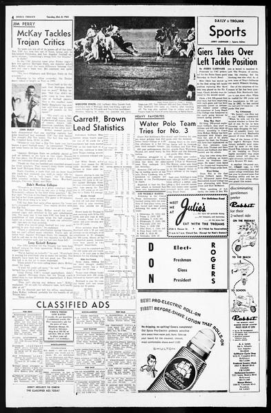 Daily Trojan, Vol. 55, No. 12, October 08, 1963