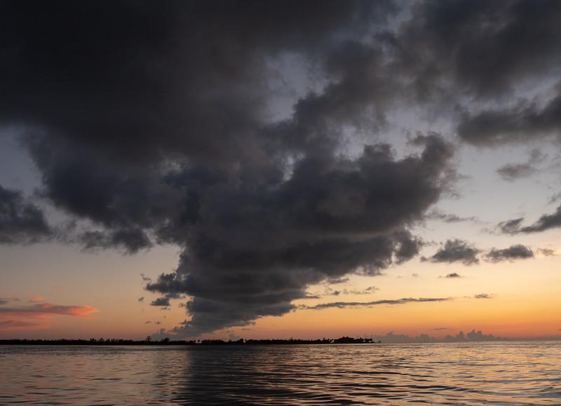 sunset storm cloud