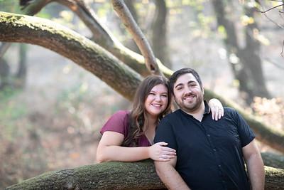 Morgan and Justin engagement portrait
