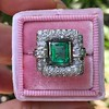 1.60ctw Emerald and Diamond Cocktail Ring 16