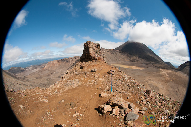 Fisheye View of Mordor and Mt. Ngauruhoe - Tongariro National Park, New Zealand