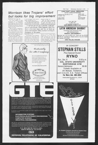 Daily Trojan, Vol. 87, No. 53, December 05, 1979