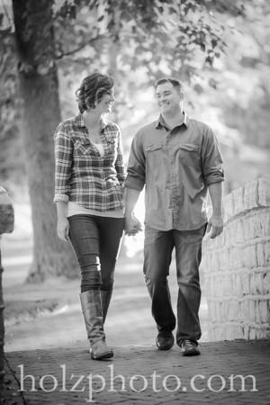 Jen & Derrick B/W Engagement Photos