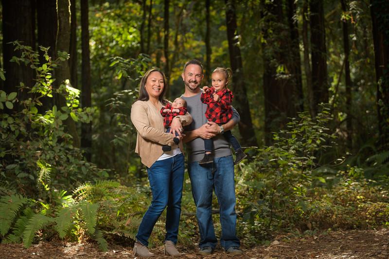 Jen and Chris Family @ Nisene Marks