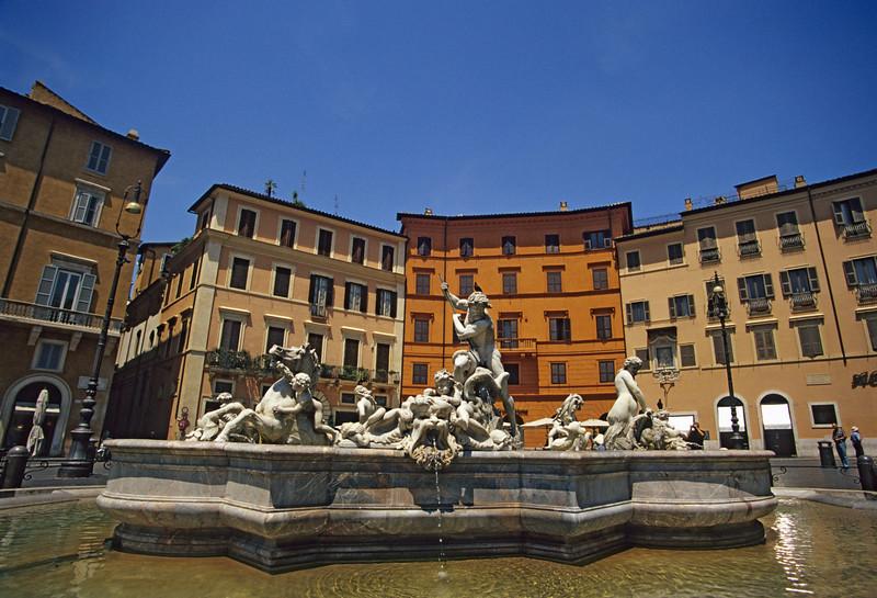 Neptune Fountain, Piazza Navona, Rome (Italy)