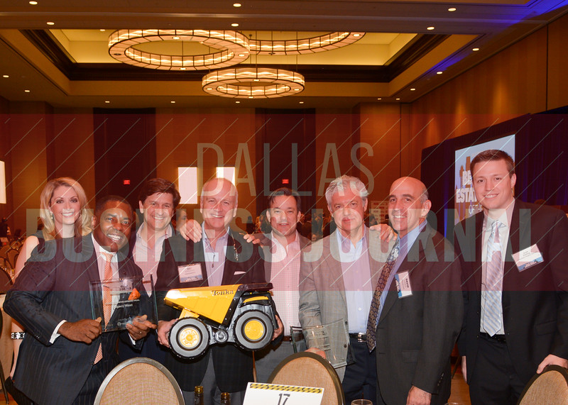 Plano mayor Harry LaRosiliere helped the Karahan Companies celebrate their two Best Real Estate Deals for 2016.