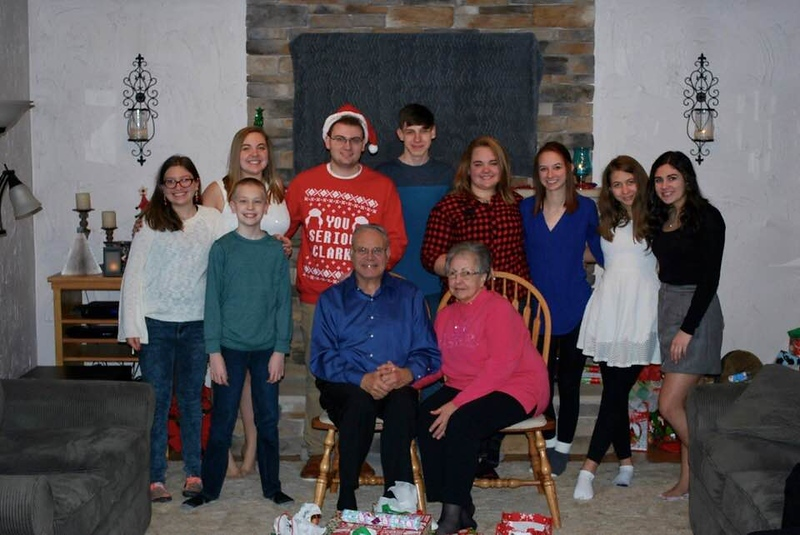 The Grandkids w/Dad and Beverly - Ashley,Matt, Katie, Jake, Andrew, Tori, Samantha, Lauren and Ally