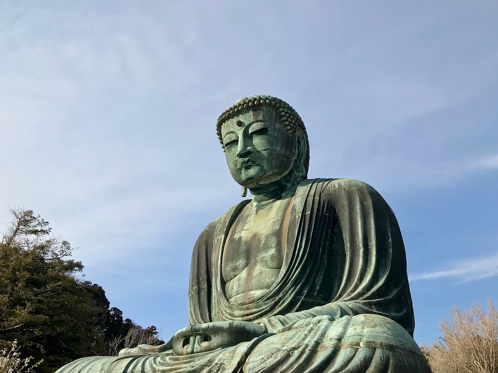 The Big Buddha at Kotoku-in Temple.