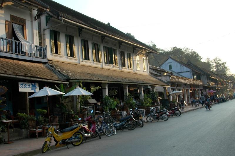 Main Street (Th Sisavangvong) - Luang Prabang, Laos