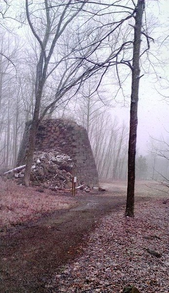 Snowy Day at Buena Vista Furnace