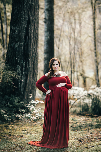 Silver Creek Falls Maternity Session