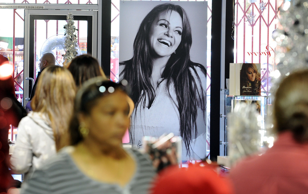 . Dec. 9 marks the one year anniversary of the death of singer Jenni Rivera.  Fans inside the Jenni Rivera Boutique in Panorama City, on hand for the release of her new live album, which was recorder just before Jenni\'s death in a  plane crashed in Mexico.  Panorama City Calif., December 3, 2013. 