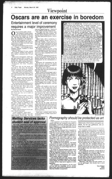 Daily Trojan, Vol. 111, No. 50, March 26, 1990