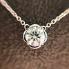 0.67ct Transitional Cut Diamond Pendant Clover Setting 15
