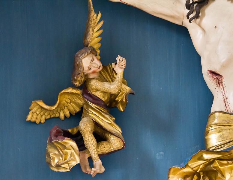 Nördlingen. St. Georg: Hochaltar, linker Engel