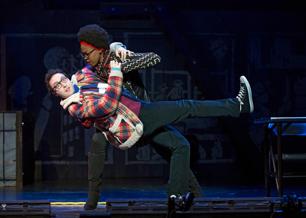 . Sammy Ferber and Jasmine Easler perform in the 20th-anniversary touring production of �Rent.� The show is on stage at the Connor Palace at Playhouse Square from March 6-25. For more information, visit playhousesquare.org. (Carol Rosegg)