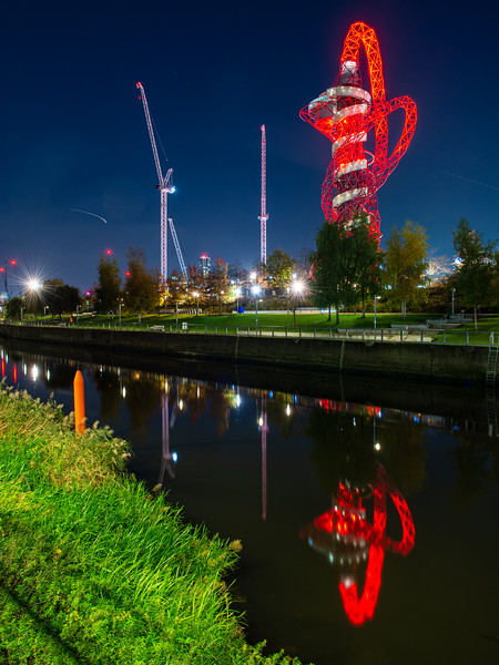Orbit Tower reflected