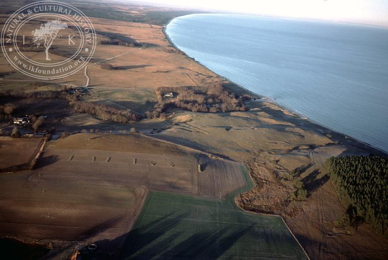 Inner parts of Hanöbukten at the mouth of Verkaån (20 November, 1988). | LH.0256