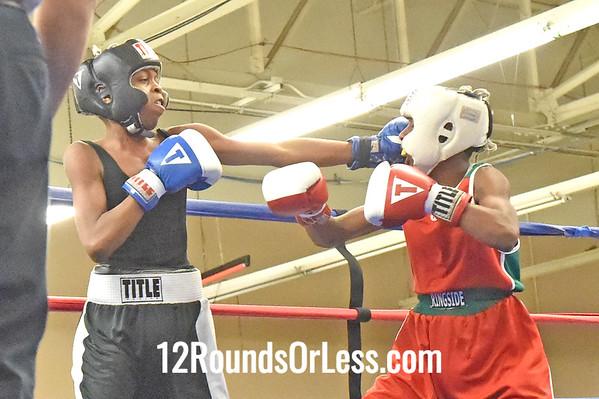 Bout 9 Reggie Riggins, Red Gloves -vs- Lonnie Jones, Blue Gloves, 1 Min. Rds.