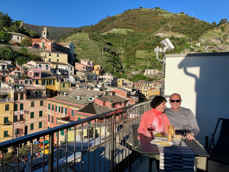 Back in Vernazza after an unforgettable day of hiking in the Cinque Terre