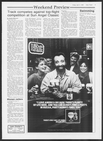 Daily Trojan, Vol. 100, No. 53, April 04, 1986