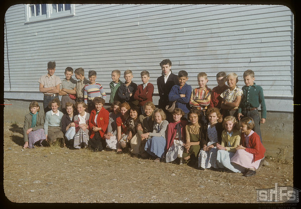 Val Marie school students.  Val Marie.  10/05/1954
