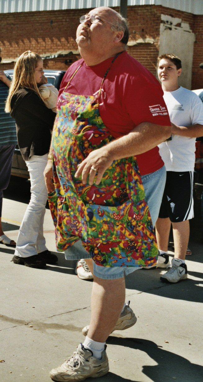 Terry Spits in the Goober spitting contest Whitesboro Peanut Festival, 2004