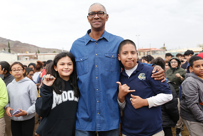NBA Champ visits Armendariz Middle, Young Women's Academy