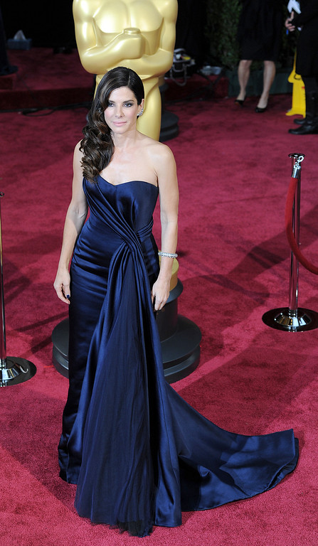 . Sandra Bullock attends the 86th Academy Awards at the Dolby Theatre in Hollywood, California on Sunday March 2, 2014 (Photo by John McCoy / Los Angeles Daily News)