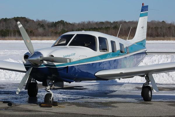 "1997 Piper PA-32R-301 ""Saratoga"", Norfolk, 08Jan18"