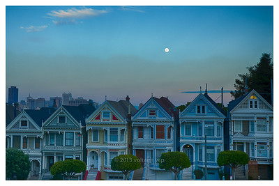 Painted Ladies Moonrise
