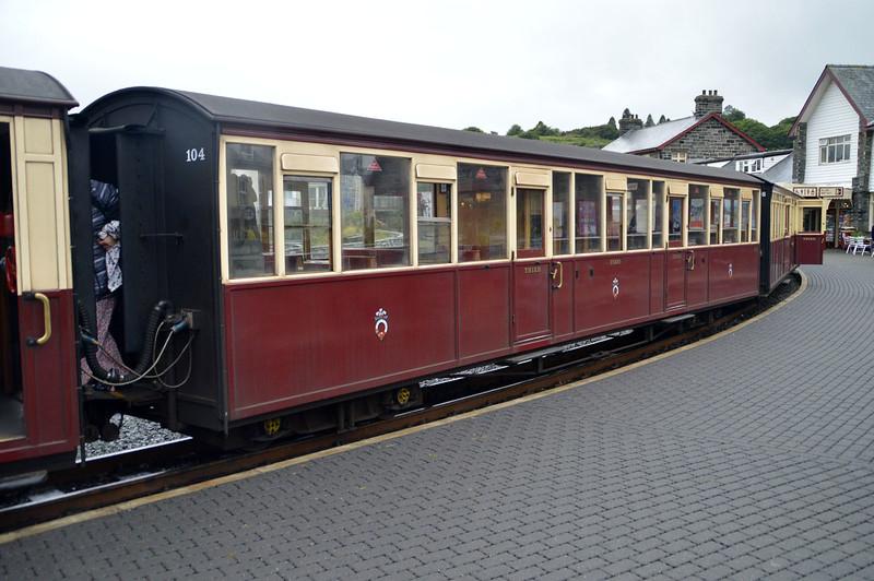 Coach 104 at Porthmadog on The Ffestiniog Railway  22/08/15.