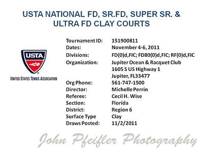 2011 National FD Clay Court Championship
