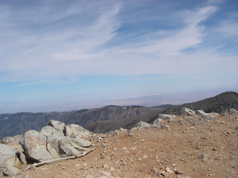 At the top of Mt.Baldy (10,064ft = 3.068m) 3